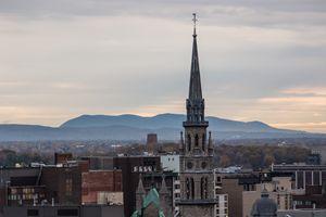 Steeple on the Montreal Skyline