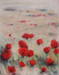 Silver Wheat Poppies II