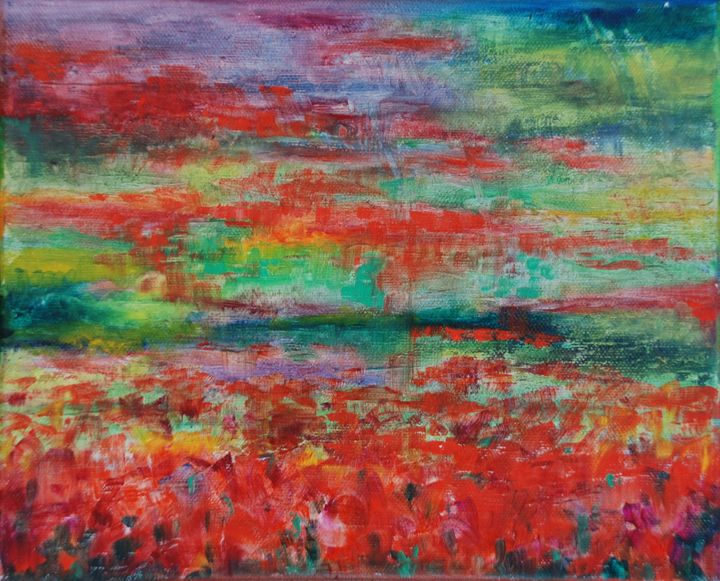 Red Green Abstract - Gabriele Niegelhell