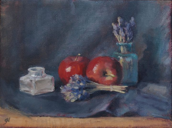 Red Apples and Lavender - Gabriele Niegelhell
