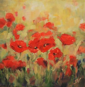 Poppies and Wheat I