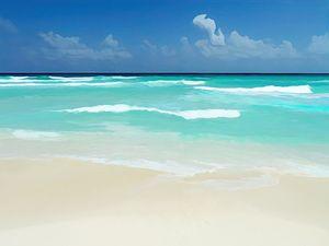 Cancun Beach Abstract