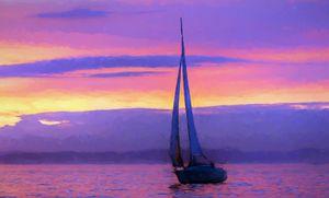 Sailboat Sunset Paradise