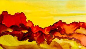 Sedona Red Rocks Abstract In Orange - Deborah League Fine Art