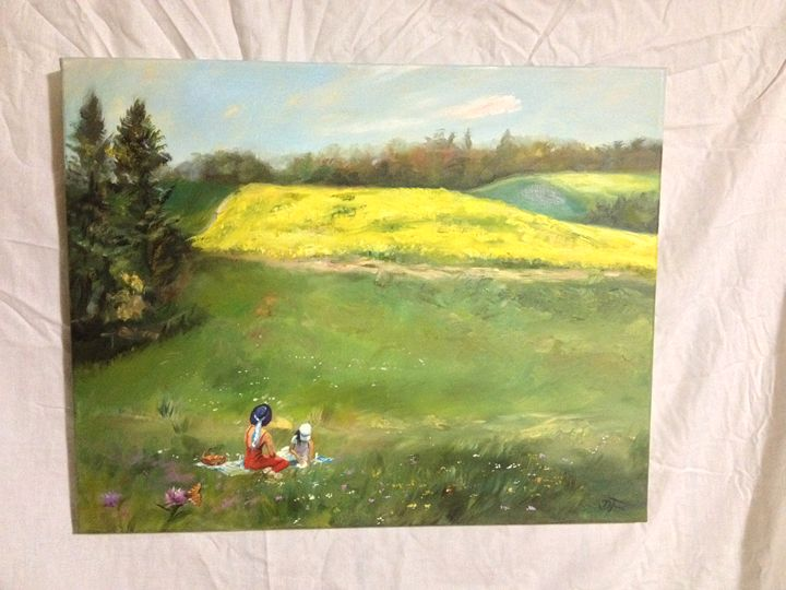 Picnic In Spring by Damijan Fric - Exclusive Paintings