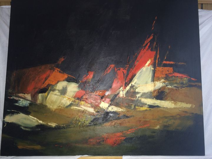 Abstract Original Painting very old - Exclusive Paintings