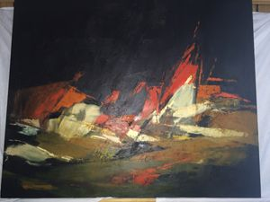 Abstract Original Painting very old
