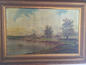 Old European Painting Signed