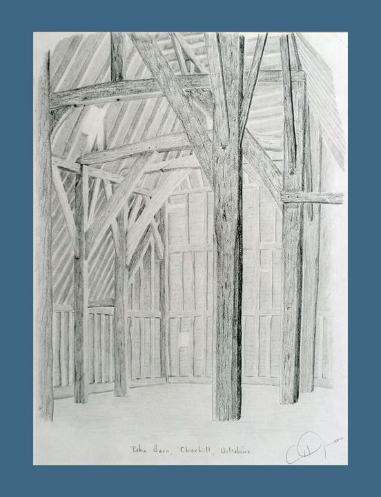 Tithe barn sketch - Rod Jones Photography