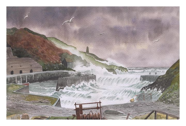 Stormy weather over Porthgain in Wal - Rod Jones Photography
