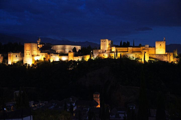 The Alhambra Palace at night - Rod Jones Photography