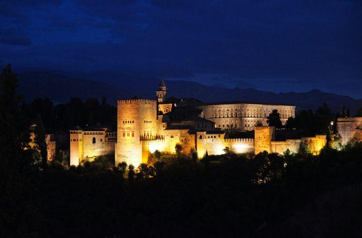 Alhambra Palace at night - Rod Jones Photography