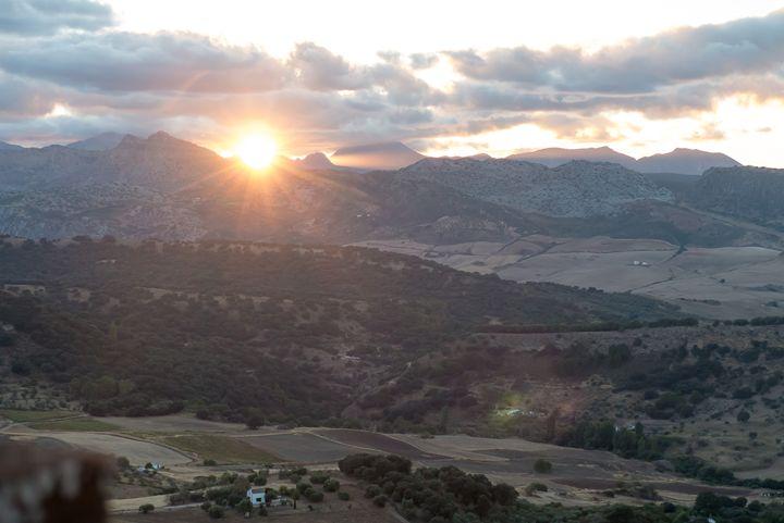 Sunset over the Ronda mountains - Rod Jones Photography