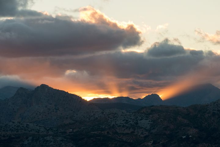 Sunset over the Ronda mountains - Rod Jones Photography
