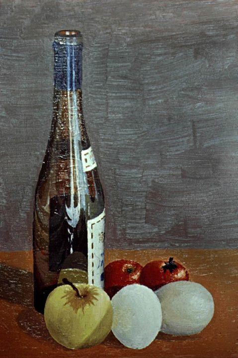 Bottle with fruit - Rod Jones Photography