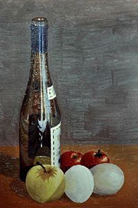 Bottle with fruit