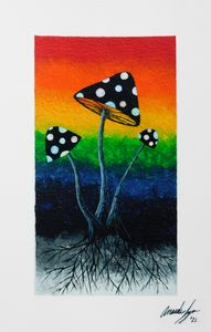 Mushroom Rainbow - Nature Up Design