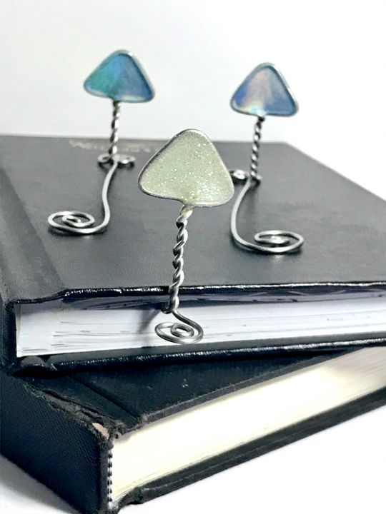 Wire Mushroom Bookmarks - Nature Up Design