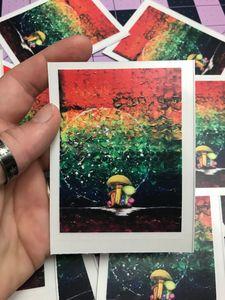 Rainbow Mushroom Sticker - Nature Up Design