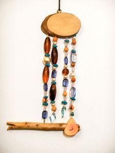 Driftwood Mobile - Blue & Orange