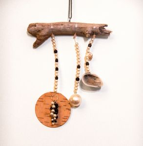 Driftwood Mobile - Shells and Birch
