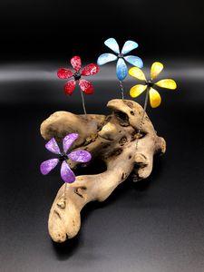 Forever Flower Driftwood Garden