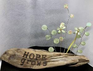 Hope Grows Driftwood Garden