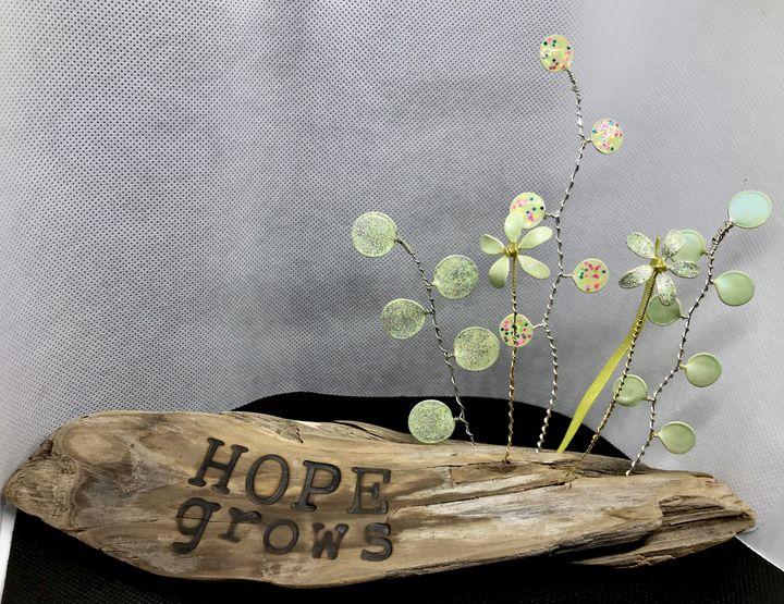 Hope Grows Driftwood Garden - Nature Up Design