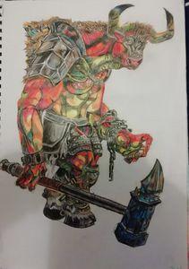 Minotaur with hammer