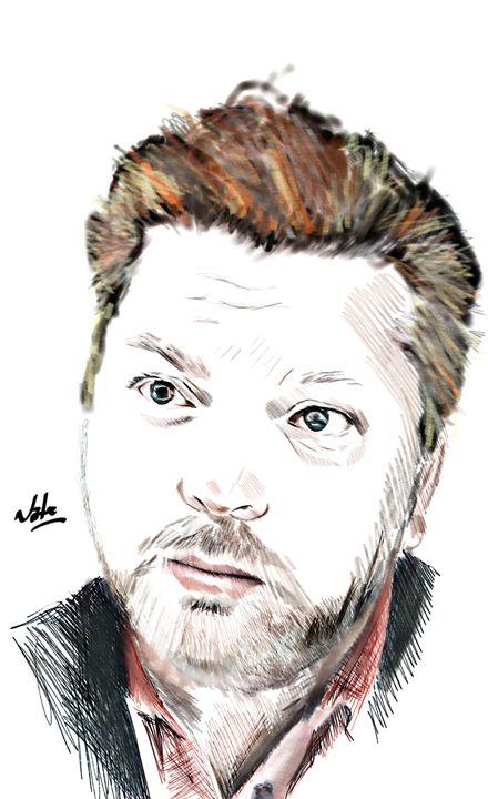 self portrait - Peculiar art by Nate