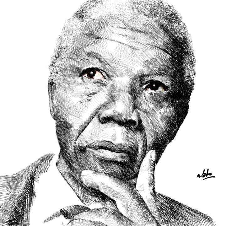 Nelson Mandela - Peculiar art by Nate