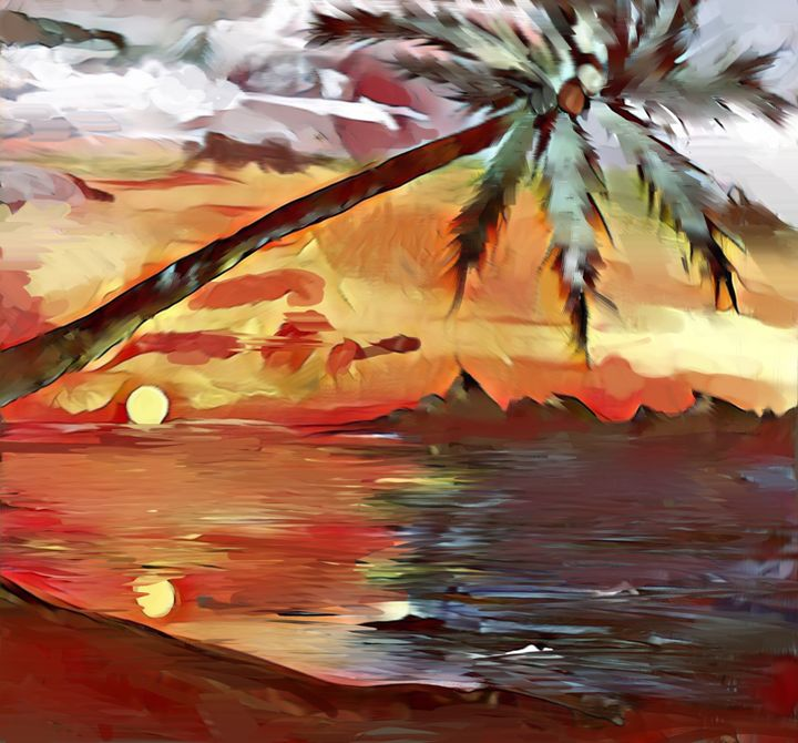 sunset - Peculiar art by Nate