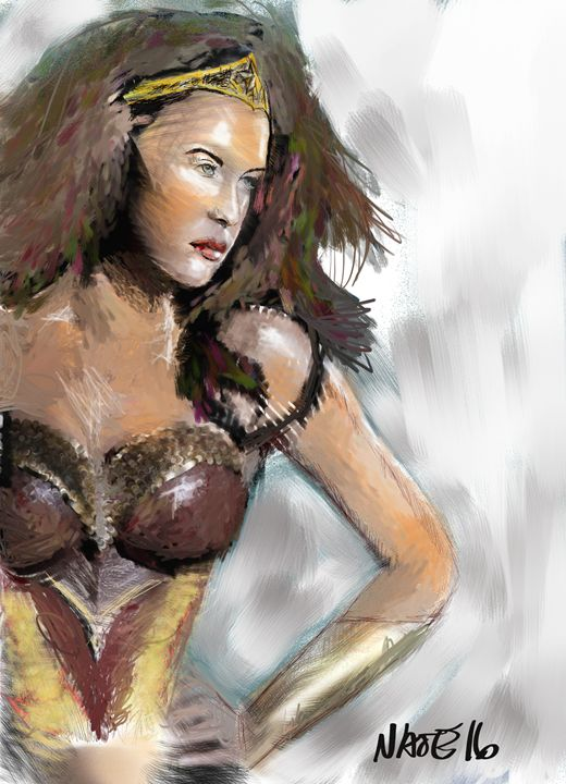 Wonder Woman - Peculiar art by Nate