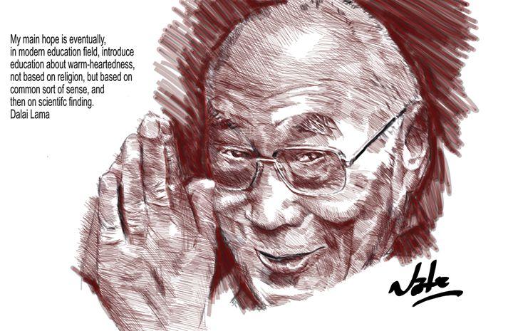 Dalai Lama - Peculiar art by Nate