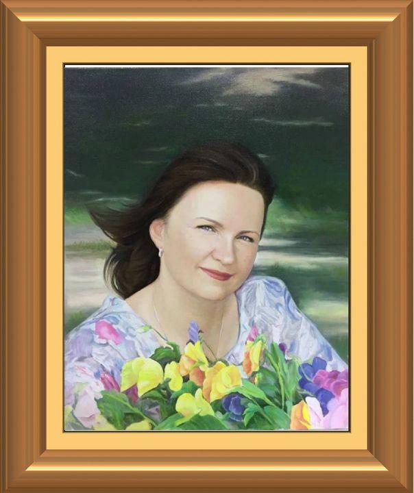 Russian woman portrait - Hosil art gallery