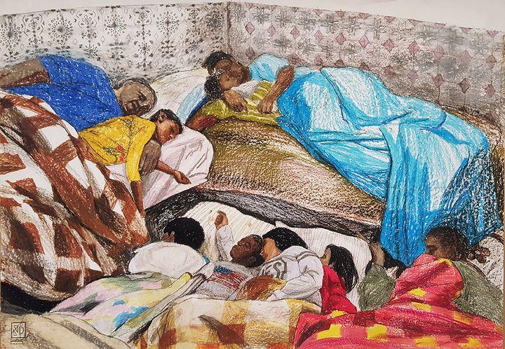 Algerian family sleeping - Ovaplocen