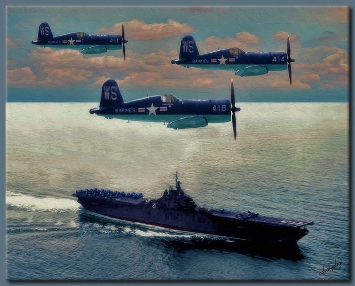 The F4U Corsairs - Richard Gerhard