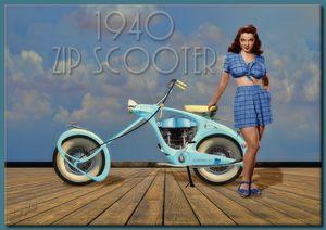 1940 Zip Scooter - Richard Gerhard