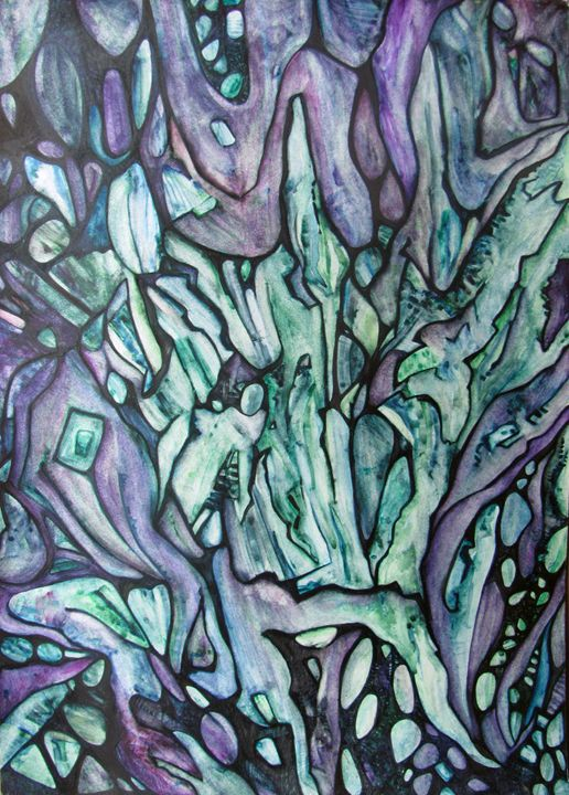 Emerald phoenix - Abstract