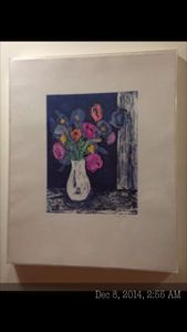 Etching signed MARILYN SIMON