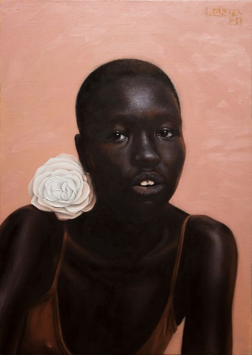 Girl with a blossom - Timo Kähara