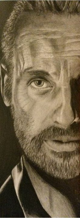 Rick Grimes The Walking Dead - Art by Kirsty Willcox