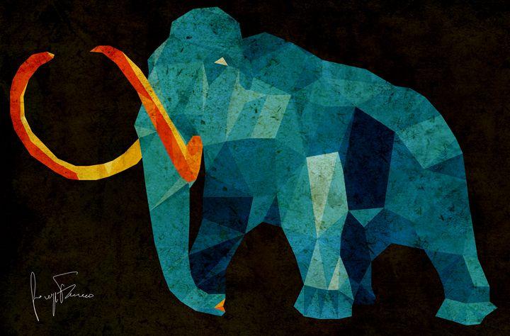 The Blue Mammoth - Giuseppe Ferraro Artworks