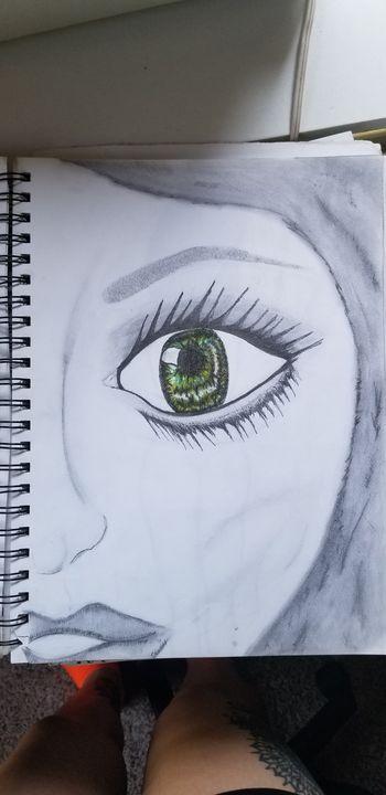 Green eyes - Silentzombiegirl