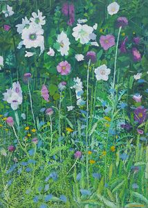 Mallow and Cornflowers II