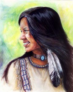 Beautiful Native American girl