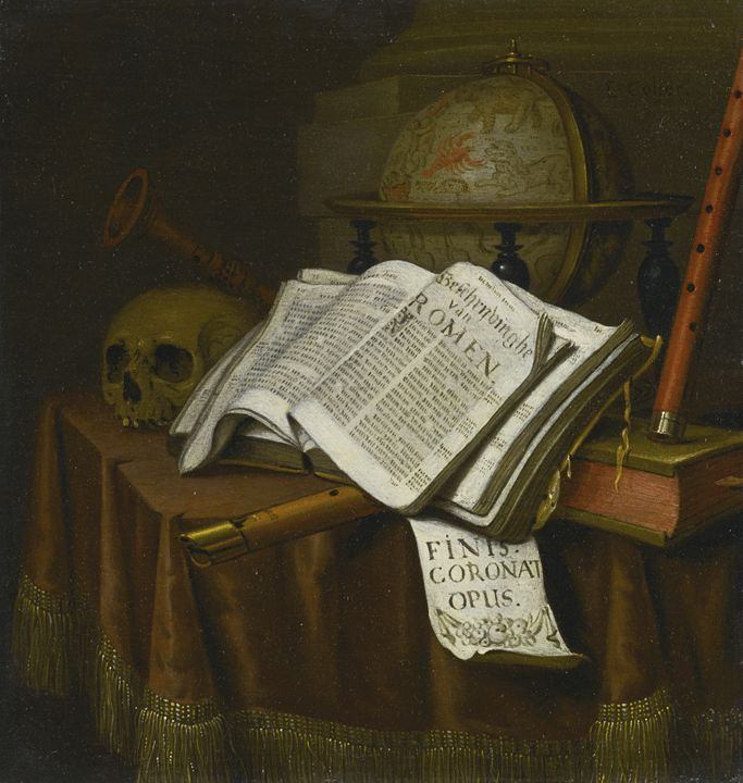 VANITAS STILL LIFE WITH ASTROLOGICAL - naveen sharma
