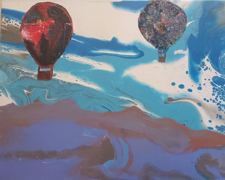 Ballon's Soaring over the mountains - Delirious Pixie Ninja