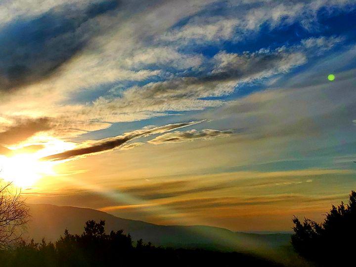 Thunder mountain New Mexico sunset - Delirious Pixie Ninja