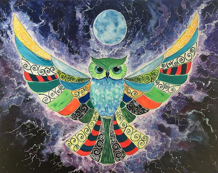 Owl always look out for you - Tina Escobar - Artist at Heart